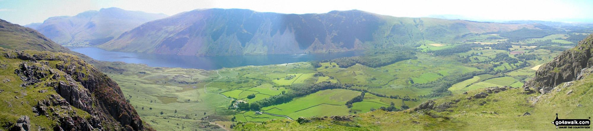 The Scafell Massif, Illgill Head, Whin Rigg and the Wast Water Screes from Buckbarrow