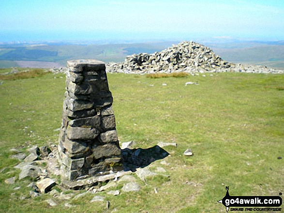 Seatallan summit trig point and cairn