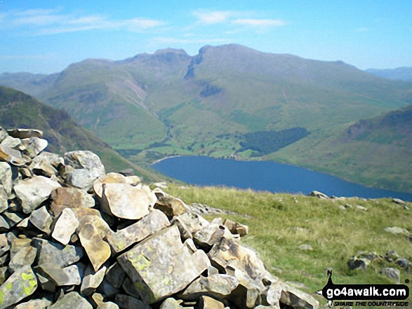 Wast Water and The Scafell Massif from the summit of Middle Fell (Wasdale)