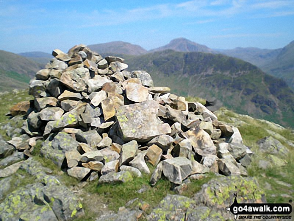 Walk c423 The Wast Water Round from Wasdale Head, Wast Water - Middle Fell (Wasdale) summit cairn