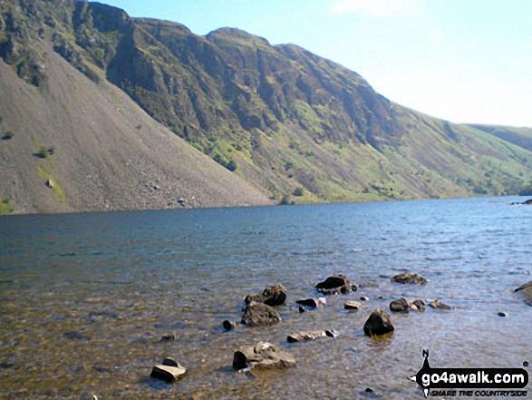 Whin Rigg and the Wast Water Screes. Walk route map c233 Sca Fell and Scafell Pike from Wasdale Head, Wast Water photo