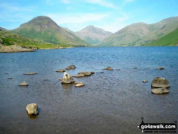 Yewbarrow, Great Gable, Lingmell and the shoulder of Scafell Pike from Wast Water