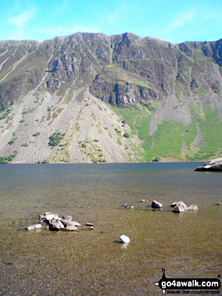 Illgill Head and the Wast Water Screes. Walk route map c101 Pillar and Little Scoat Fell from Wasdale Head, Wast Water photo