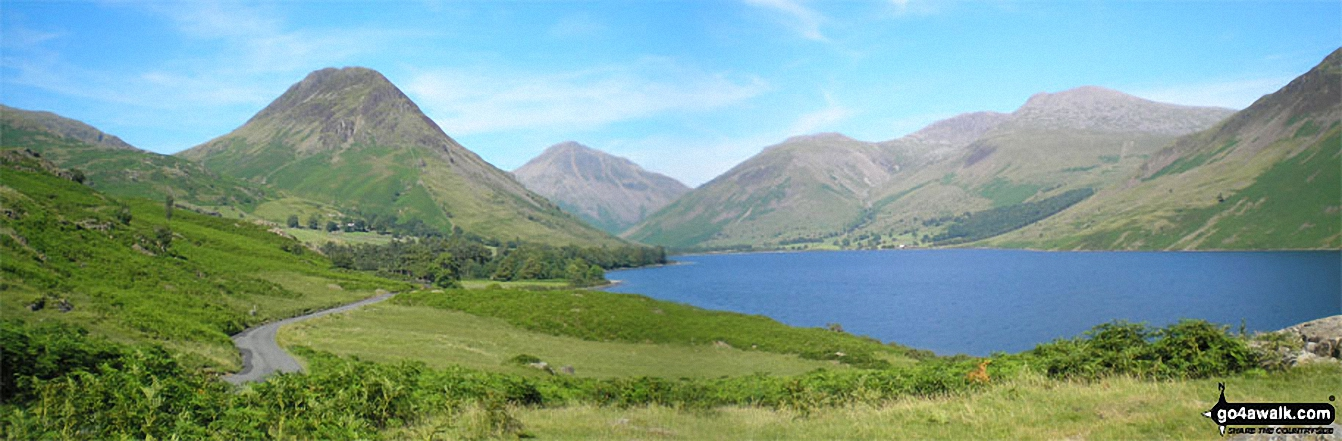 Yewbarrow, Great Gable, Lingmell, Scafell Pike and Sca Fell from Wast Water
