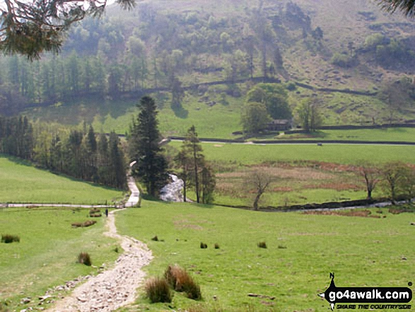 Grisedale from Brownend Plantation. Walk route map c192 Helvellyn Ridge from Glenridding photo