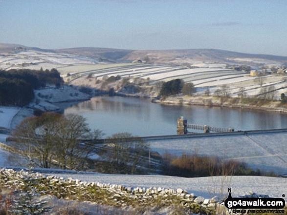 Lower Laithe Reservoir from Penistone Hill near Haworth