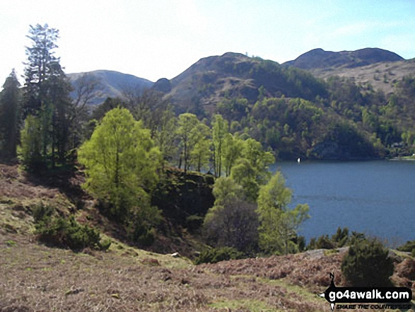 Approaching Silver Point on the shores of Ullswater