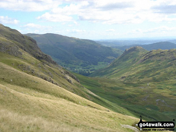 Looking across Greenburn Bottom to Helm Crag from Steel Fell (Dead Pike)