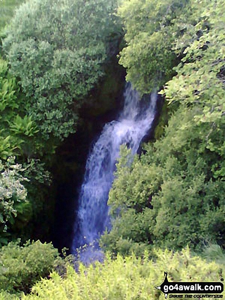 The waterfall at Blaen y Glyn