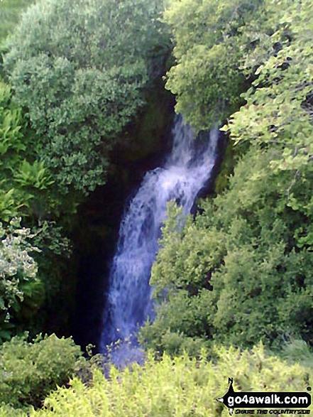 The waterfall at Blaen y Glyn. Walk route map po131 Bwlch y Ddwyallt and Fan y Big from Blaen y Glyn photo