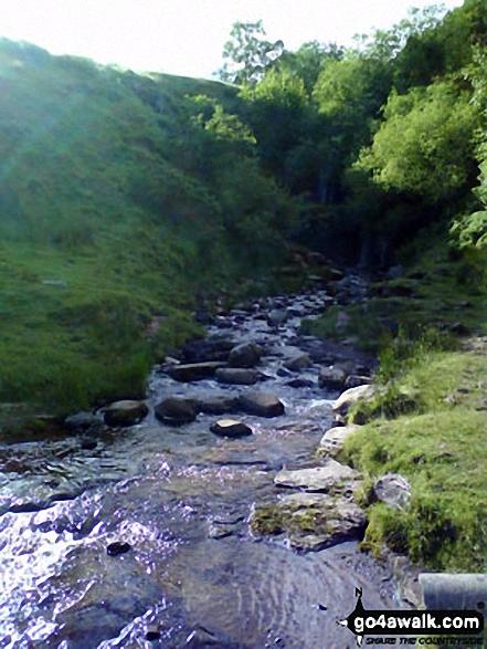 Waterfalls near Blaen y Glyn. Walk route map po131 Bwlch y Ddwyallt and Fan y Big from Blaen y Glyn photo