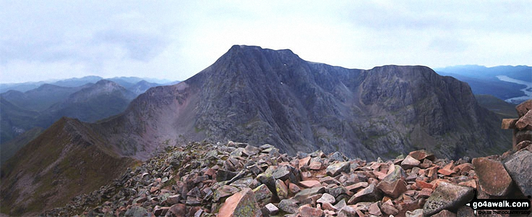*Ben Nevis and the Carn Mor Dearg (CMD) Arete (left) from the summit of Carn Mor Dearg