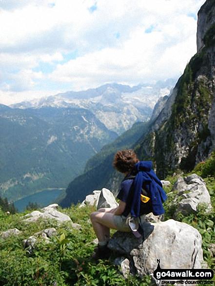 Me on Gablonzer Hutte walk Dachstein Hinterland  Austria walks