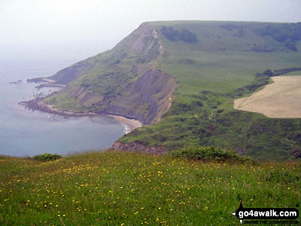 Chapman's Pool and Houns-tout Cliff from Emmetts Hill, The South West Coast Path