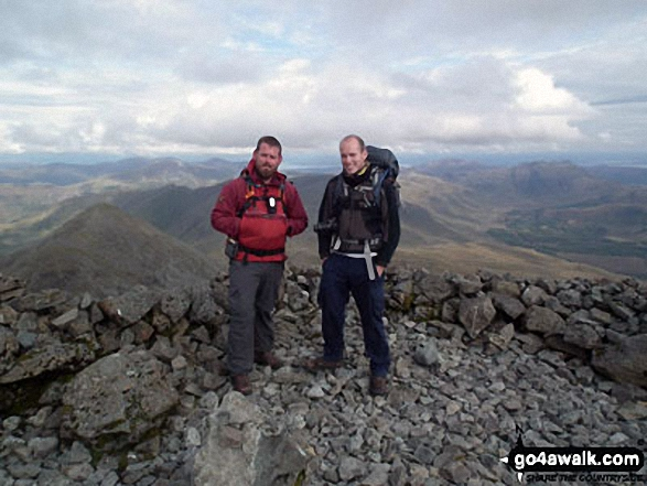 On the summit of Ben More on the Isle of Mull