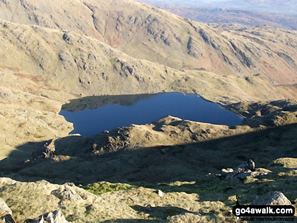 Walk c179 The Seathwaite Round from Seathwaite, Duddon Valley - Levers Water and Boulder Vally from Levers Hawse
