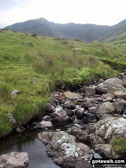 Looing back up to Gau Graig from Mynydd Gwerngraig