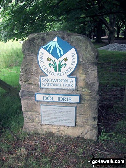 Snowdonia Nationa Park sign in Minffordd