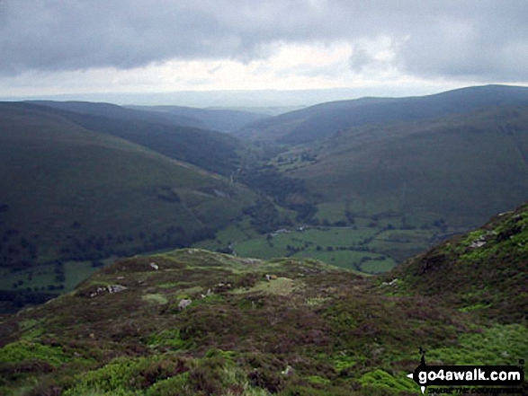 Looking South East towards Corris from Craig Cwm Amarch