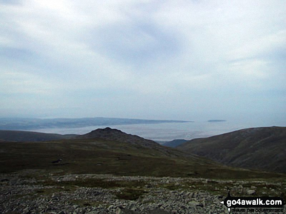 Bera Mawr with Anglesey and Conwy Bay beyond from Carnedd Gwenllian (Carnedd Uchaf)