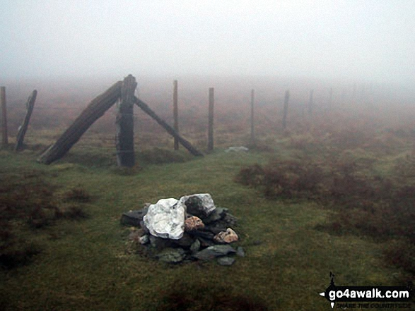 Walk Foel Wen walking UK Mountains in The Berwyns Snowdonia National Park*<br> Powys Wrexham   Wales