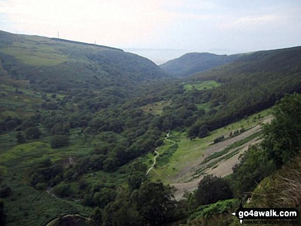 The Afon Rhaeadr-fawr valley from the top of Aber Falls (Rhaeadr-fawr)