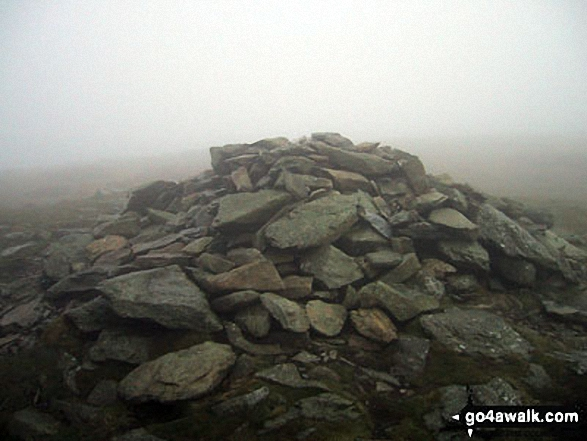 The large cairn on the summit of Moel Sych