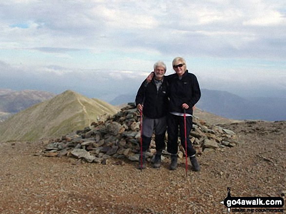 Walk c224 Helvellyn via Swirral Edge and Raise from Glenridding - Eric and me on Helvellyn, 5 months after his hip replacement :)