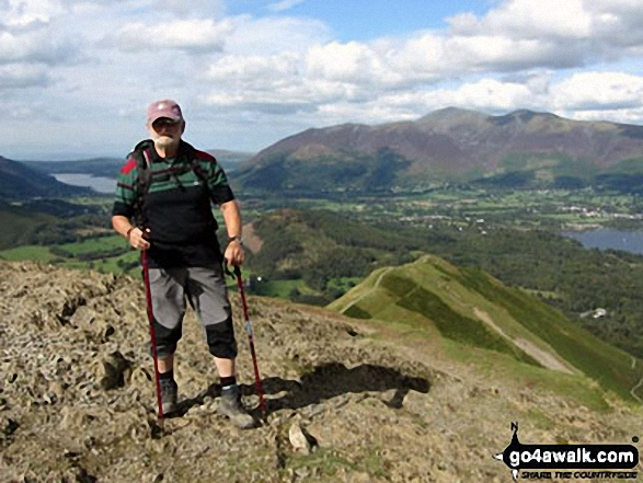 My husband Eric on Catbells. Walk route map c399 Cat Bells and Derwent Water from Keswick photo