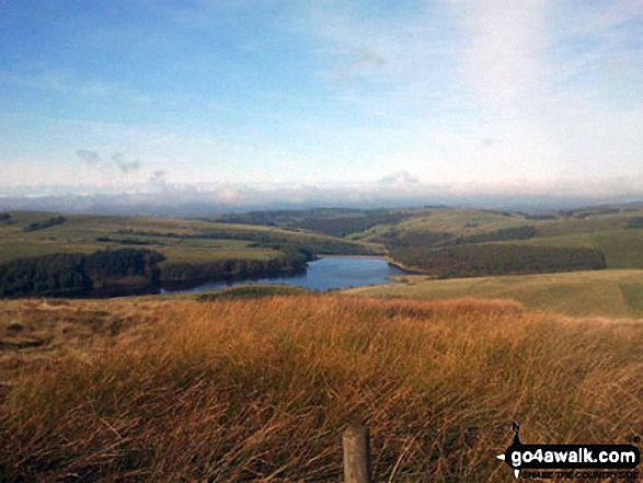 Looking down onto Lamaload Reservoir from Shining Tor
