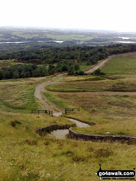 Rivington Reservoir from the path up Rivington Pike