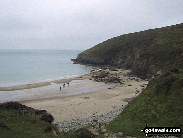The Pembrokeshire Coast Path at Whitesands Bay, St David's Head