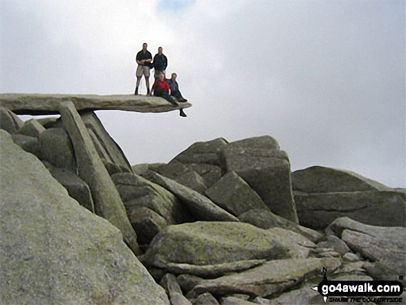 Andy, Ste, Coxy and Guy on Glyder Fach