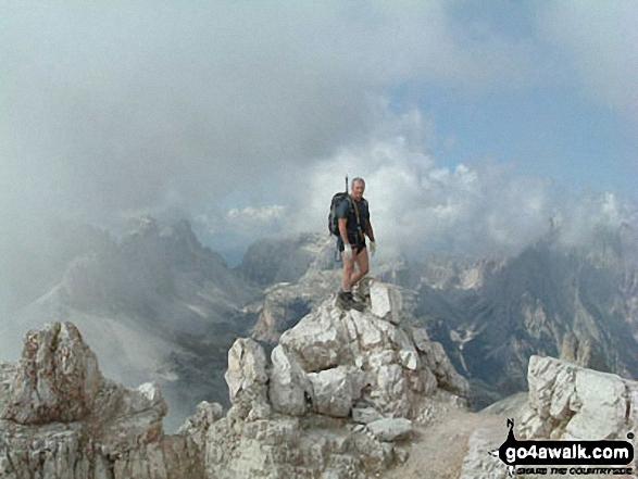 My brother Jock on Monte Paterno walk Italian Dolomites Misurina Italy walks