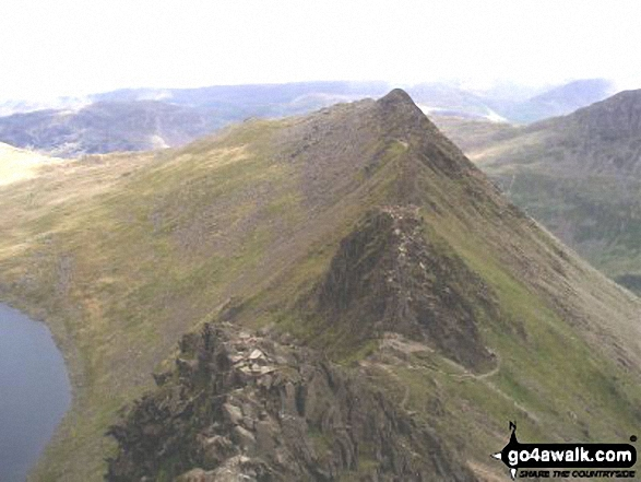 The infamous Striding Edge from Helvellyn