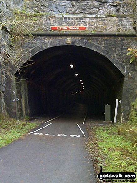 The other end of the recently reopened Litton Tunnel on the Monsal Trail. Walk route map d202 The Monsal Trail, Water-cum-Jolly Dale and Monsal Head from Miller's Dale Station photo