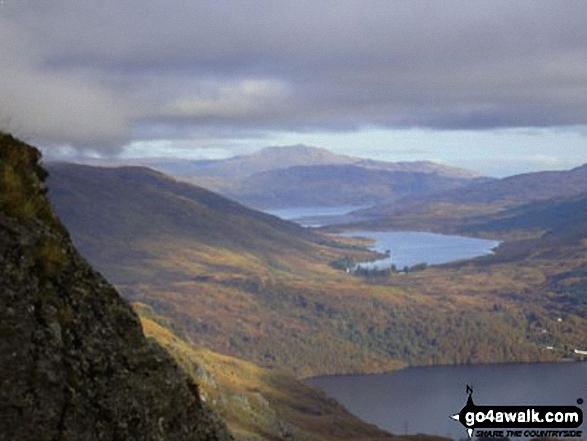 Ben Ledi from Ben Vane looking over Loch Lomond, Loch Arklet and Loch Katrine