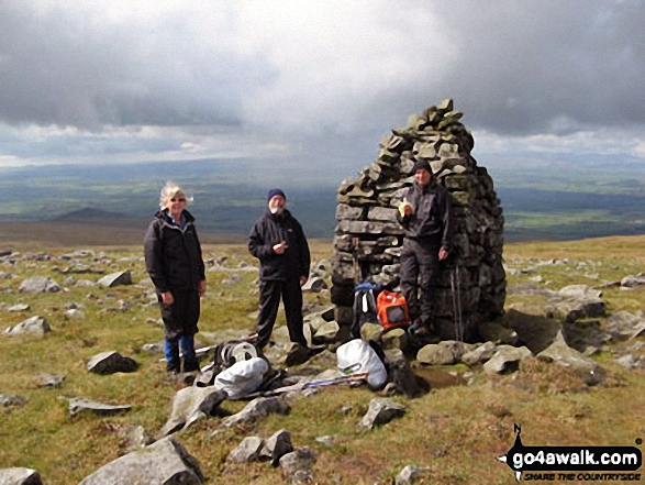 My wife Lesley and friends Iain and John at Knock Old Man while doing the Pennine Way between Dufton and Garrigill