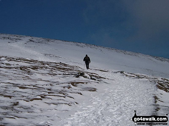 Blencathra or Saddleback (Hallsfell Top) in the Snow