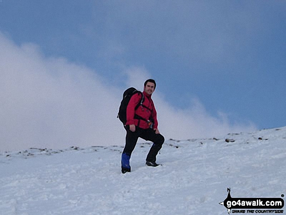 Andy Brown on Blencathra or Saddleback (Hallsfell Top)