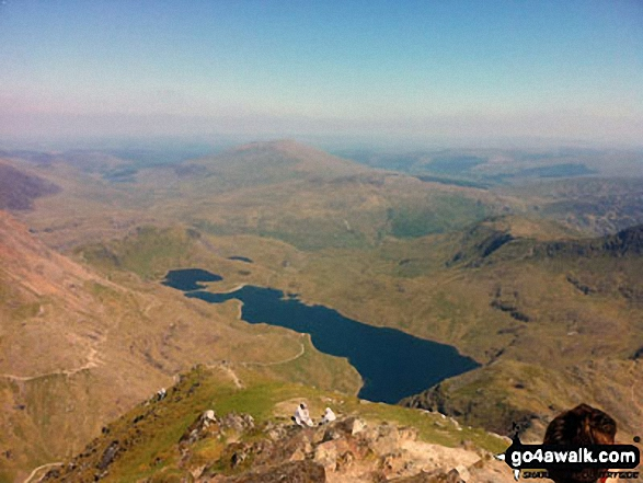 The awe inspiring view from Snowdon