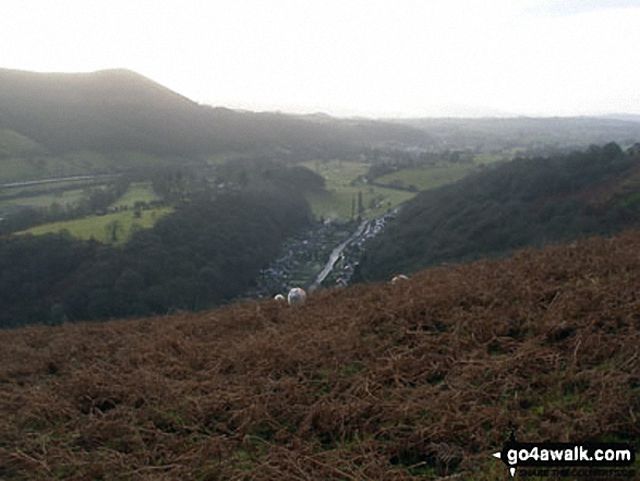Little Stretton from Ashlet, The Long Mynd