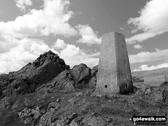 Great Stickle (Dunnerdale Fells) summit trig point