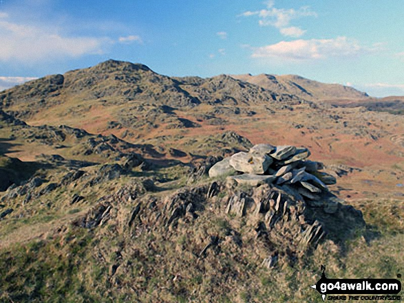 Walk Raven's Crag (Stickle Pike) walking UK Mountains in The Southern Marches The Lake District National Park Cumbria    England