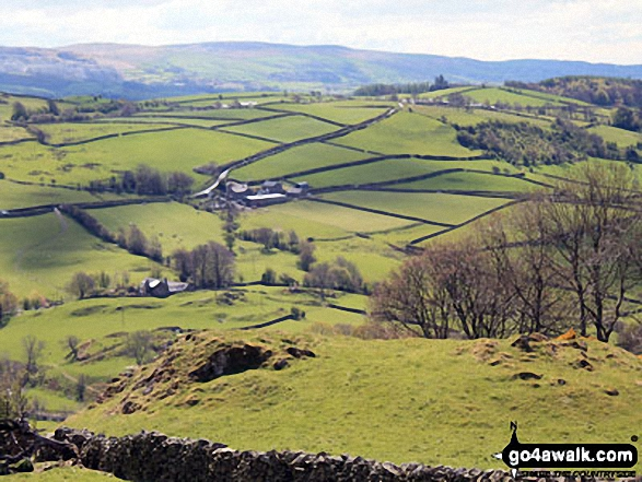 Green Bank Farm and Broughton Mills from the bottom of Hovel Knott