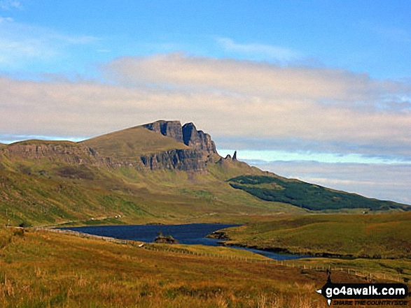 The Storr and The Old Man of Storr from across Loch Leathan