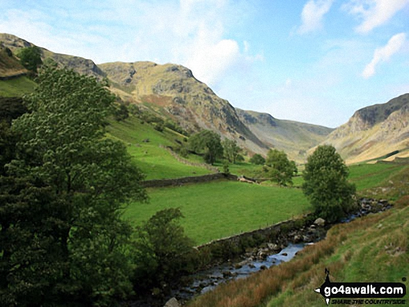 Looking up Longsleddale from Sadgill