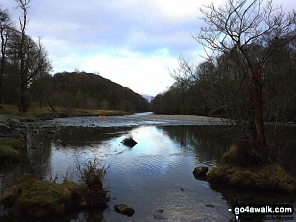 The River Derwent below Castle Crag