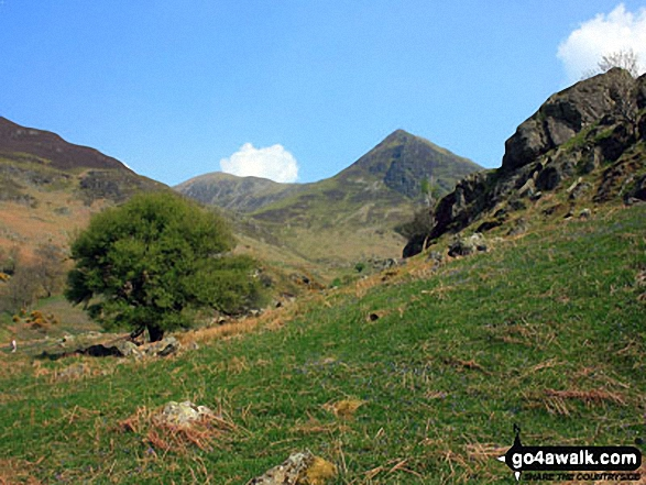 Wandope (left), Whiteless Pike and Rannerdale Knotts (right) from above Hause Point, Crummock Water