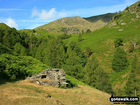 The Furness Fells above Crook Beck from near Low Tilberthwaite